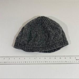Gray NUA wool cashmere beenie